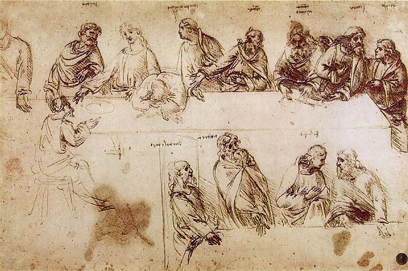 Studie von Leonardo da Vinci