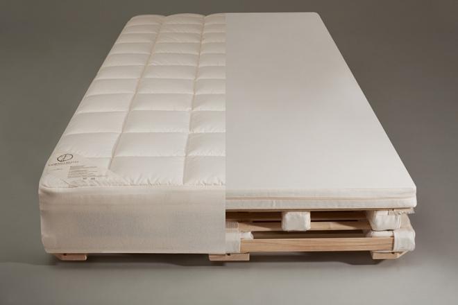 Das Wollunterbett wirkt temperaturausgleichend und wärmeregulierend