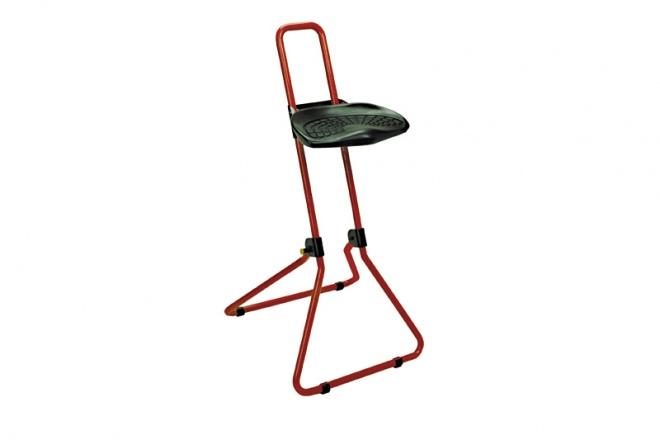 SK100 Gestell rot, PU-Sitz schwarz