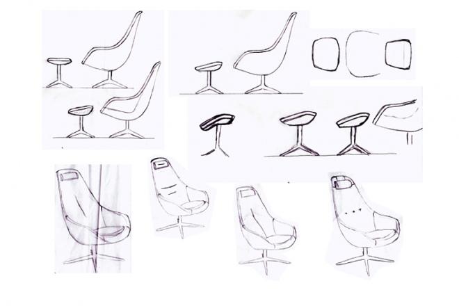 Skizzen des Designers Thomas Petersen