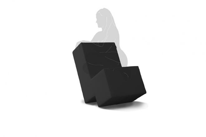 Sessel Laxxer mit schwarzem Bezug