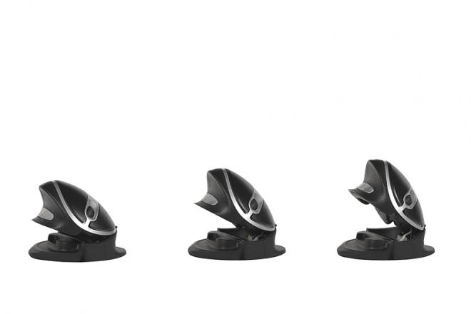 Oyster Vertikalmaus wireless, Winkelungen 40, 60 und 70 Grad