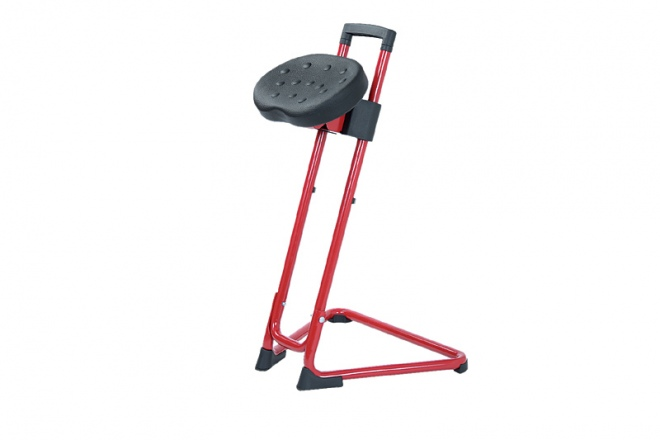 SH120 Gestell rot, PU-Sitz schwarz