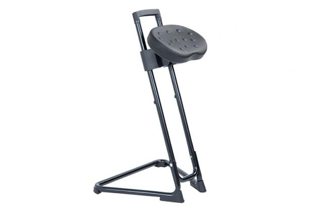 SH120 Gestell schwarz, PU-Sitz schwarz