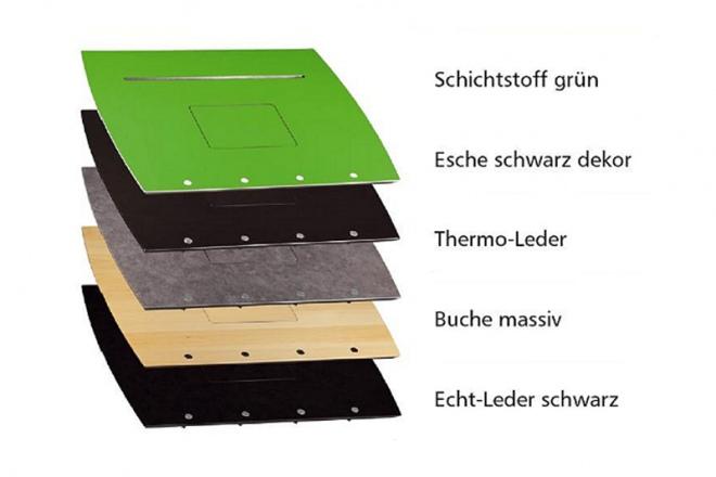 Das Stehpult Tablet Rolls ist in 5 Plattenfarben erhltlich
