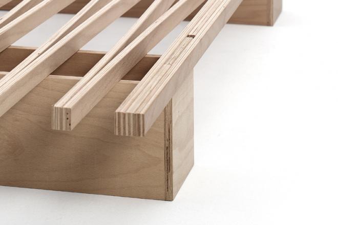 Die 4 Steckverbindungen geben dem Bett Stabilität