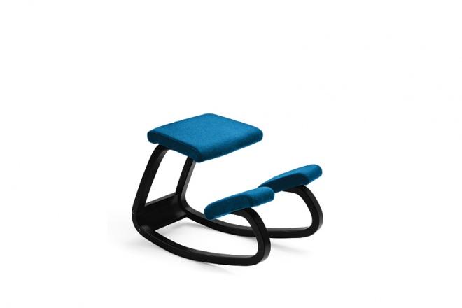Variable balans, Gestell schwarz, Polster Stoff blau