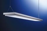 Durch den Abstand zur Decke verteilt sich das Licht gleichmäßig im Raum